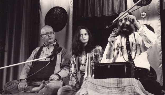 Philip Whalen, Anne Waldman, and Allen Ginsberg, Naropa Institute, 1975 - Photograph by Rachel Homer