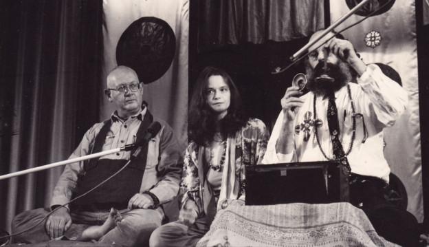 Philip Whalen, Anne Waldman, and Allen Ginsberg, Naropa Institute, 1975 - Photograph by Rachel Homer