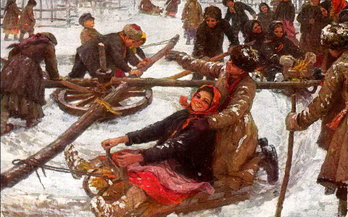 Сычков Ф.В. Деревенская карусель. 1910
