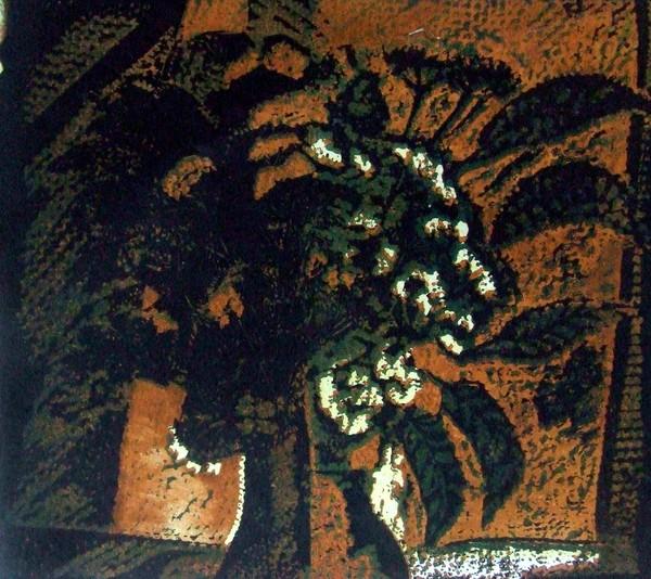 Цветная гравюра на картоне. 1985. 50х60