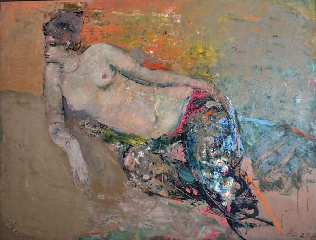 В. басинский. Одалиска, холст, масло, 2013, 90×120