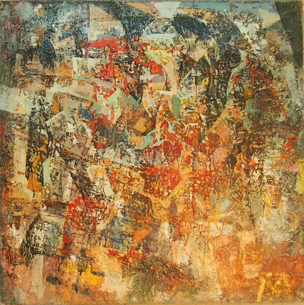 О. Кузин.  Индия холст, масло, 2009, 114×114