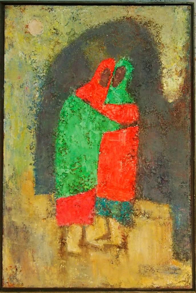 О. Кузин.  Встреча холст, масло, 1997, 85×57