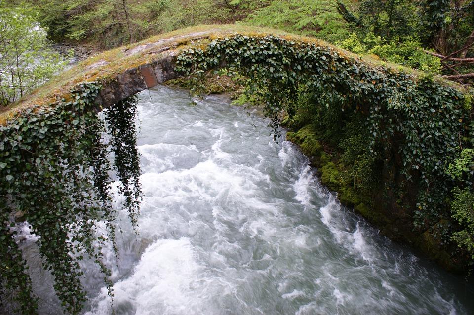 3 причины провести медовый месяц в Грузии. Природа.Река.Мост