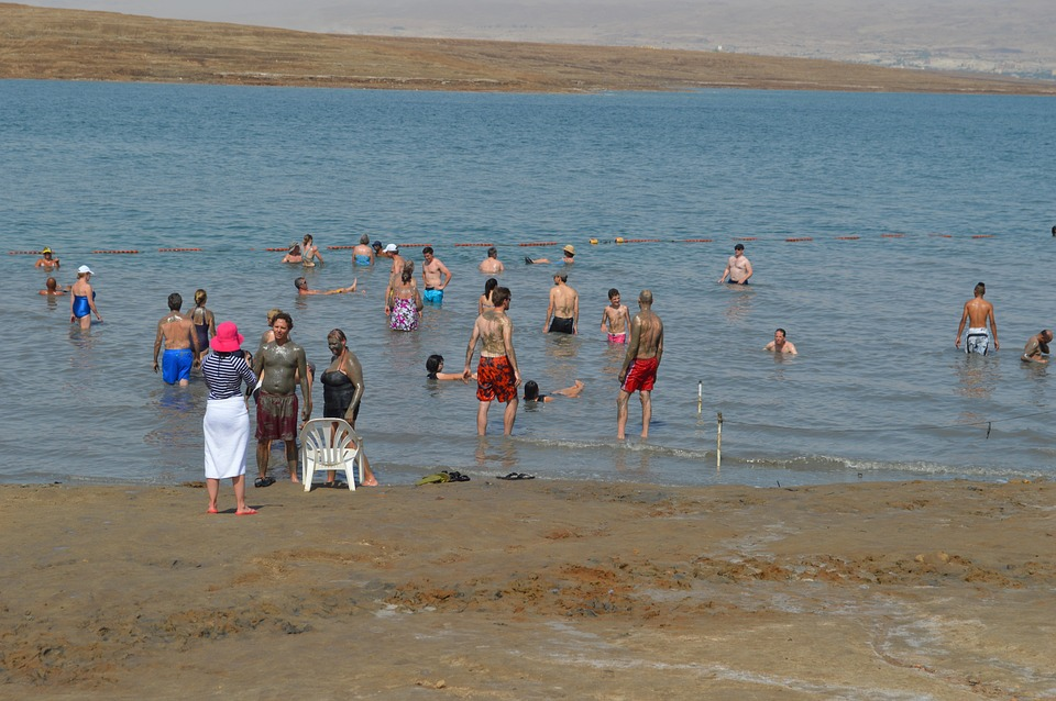 3 моря Израиля. Мёртвое море.Люди
