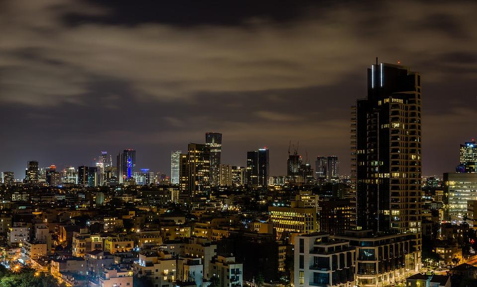 3 моря Израиля. Тель-Авив.Ночной