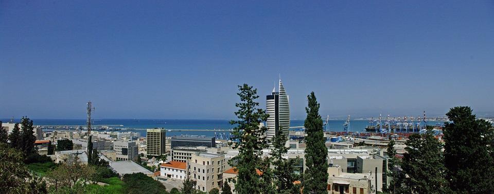 3 моря Израиля. Хайфа.Панорама