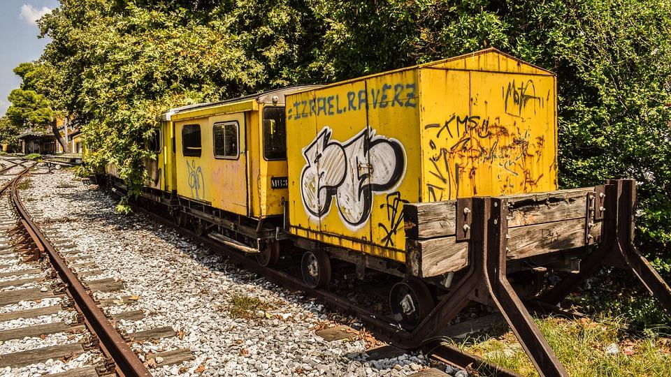 Салоники поезд графити