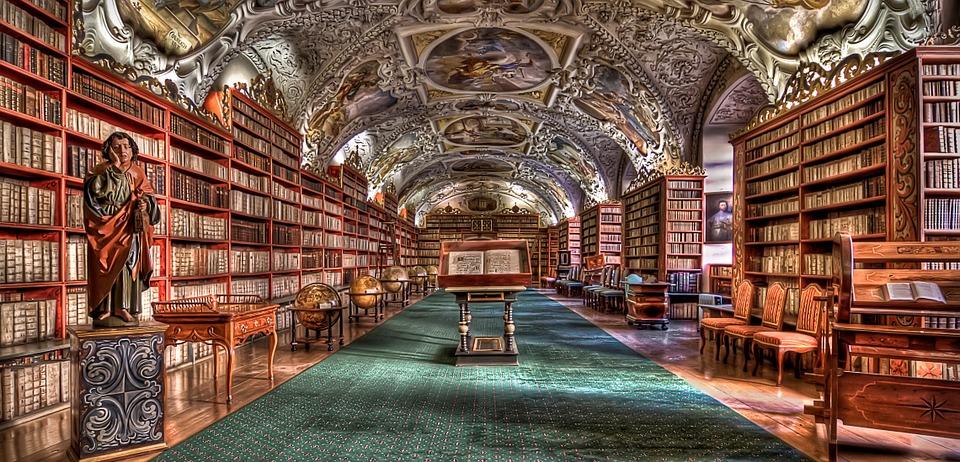 Прага.Библиотека