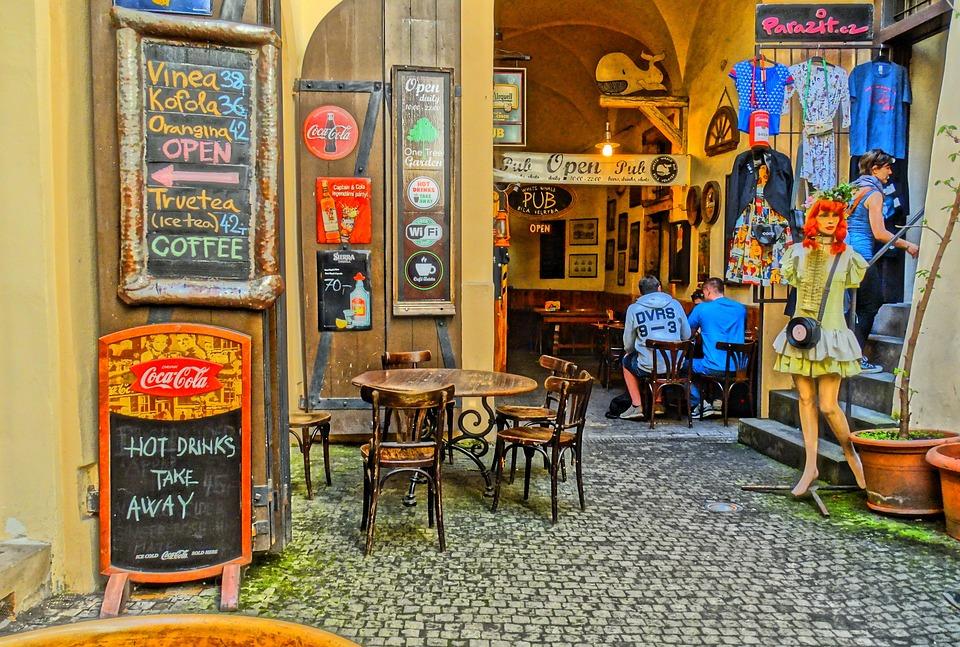 Прага.Кафе