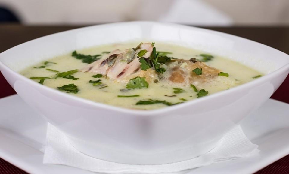 Латвия. Молочный суп с сельдью и картофелем